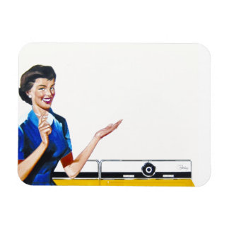 Housewife and New Washer Rectangular Photo Magnet