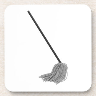 housewife Mop Funny Halloween costume couples Coaster