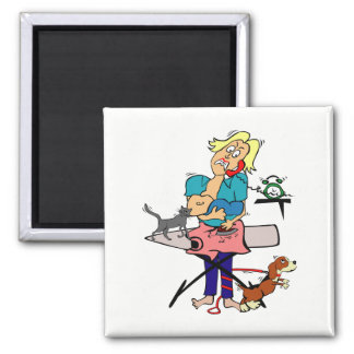 Housewife Square Magnet