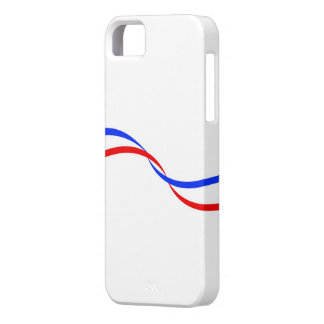 Housing for mobile with French flag iPhone 5 Case
