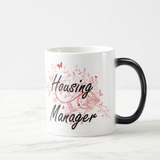 Housing Manager Artistic Job Design with Butterfli Magic Mug
