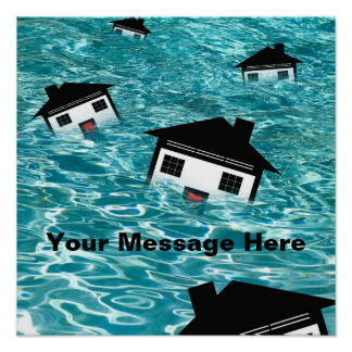 Housing Market Drowning POSTER Posters