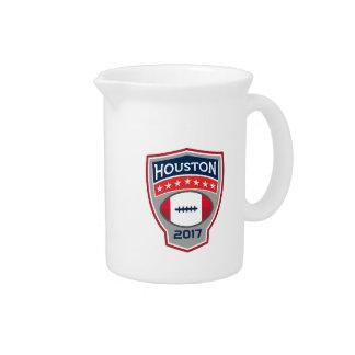 Houston 2017 American Football Big Game Crest Retr Drink Pitcher