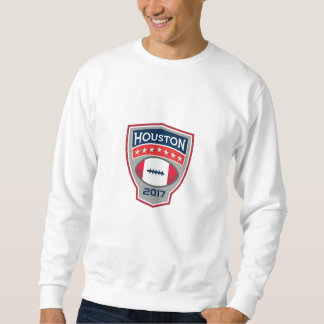 Houston 2017 American Football Big Game Crest Retr Sweatshirt
