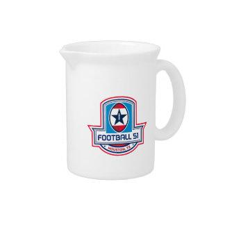 Houston American Football 51 Stars Crest Retro Drink Pitcher