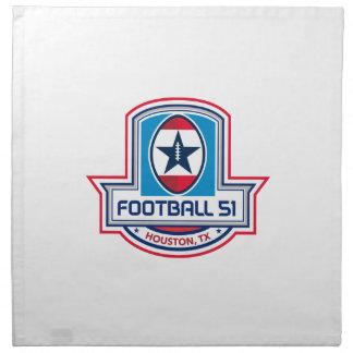 Houston American Football 51 Stars Crest Retro Napkin
