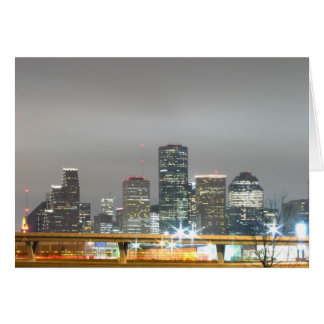 Houston at Night Card