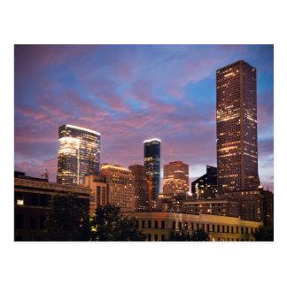 Houston at Night Postcard