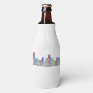 Houston city skyline bottle cooler