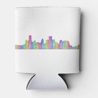 Houston city skyline can cooler