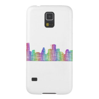 Houston city skyline case for galaxy s5