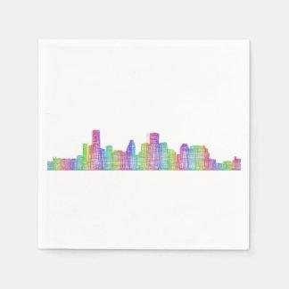Houston city skyline disposable napkin