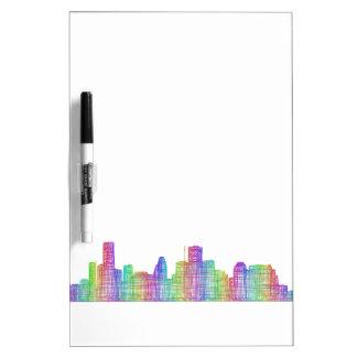 Houston city skyline dry erase board