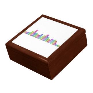 Houston city skyline gift box