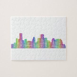 Houston city skyline jigsaw puzzle