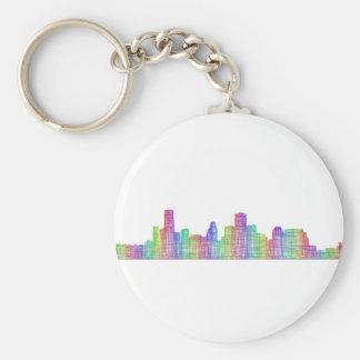 Houston city skyline keychain