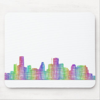 Houston city skyline mouse pad