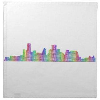 Houston city skyline napkin