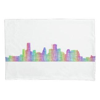 Houston city skyline pillowcase