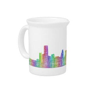 Houston city skyline pitcher