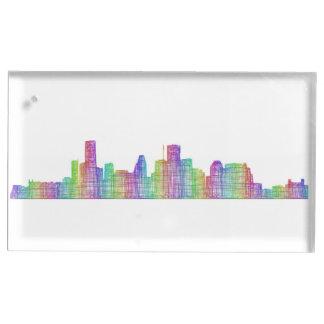 Houston city skyline table card holders