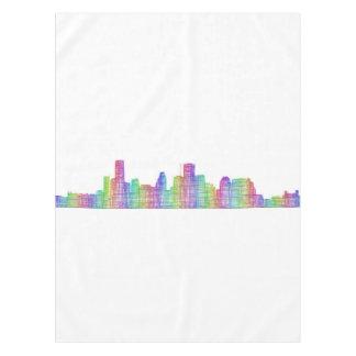 Houston city skyline tablecloth