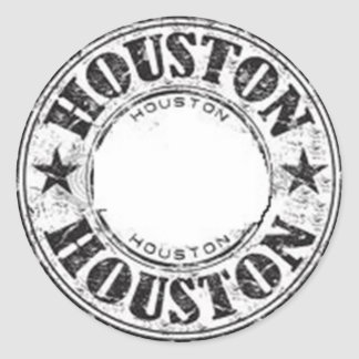 Houston Classic Round Sticker