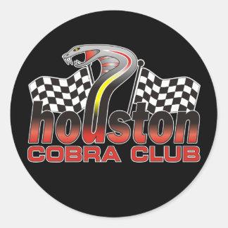 Houston Cobra Club Logo - December 2009 Classic Round Sticker