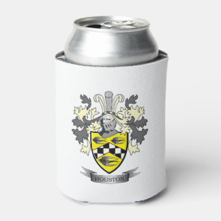 Houston Family Crest Coat of Arms Can Cooler