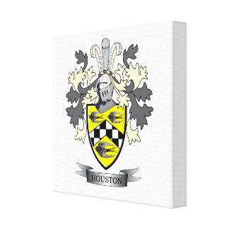 Houston Family Crest Coat of Arms Canvas Print