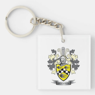 Houston Family Crest Coat of Arms Keychain