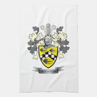 Houston Family Crest Coat of Arms Kitchen Towel