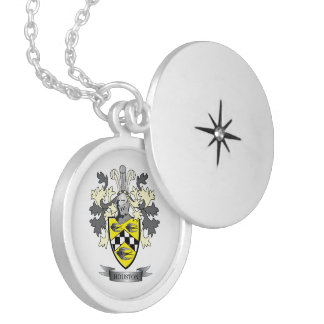 Houston Family Crest Coat of Arms Locket Necklace