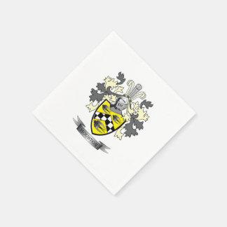 Houston Family Crest Coat of Arms Paper Napkin