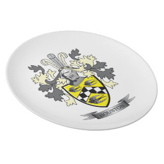 Houston Family Crest Coat of Arms Plate