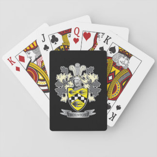 Houston Family Crest Coat of Arms Playing Cards