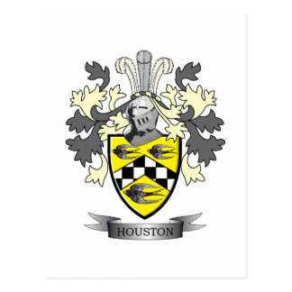 Houston Family Crest Coat of Arms Postcard