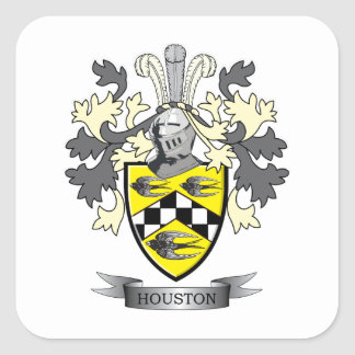 Houston Family Crest Coat of Arms Square Sticker