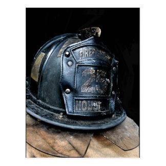 Houston Fire Fighter Postcard