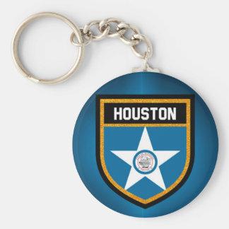 Houston  Flag Keychain