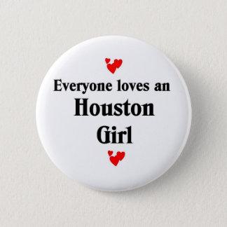 Houston Girl 2 Inch Round Button