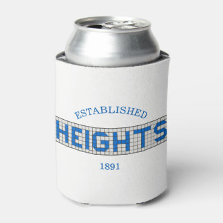 Houston Heights Blue and White Tile Can Cooler