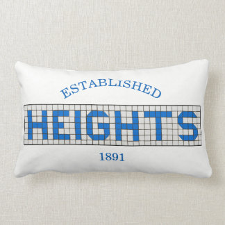 Houston Heights Blue and White Tile Lumbar Pillow