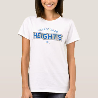Houston Heights Blue and White Tile T-Shirt