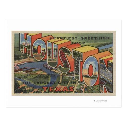 Houston, le Texas - grandes scènes 2 de lettre Cartes Postales