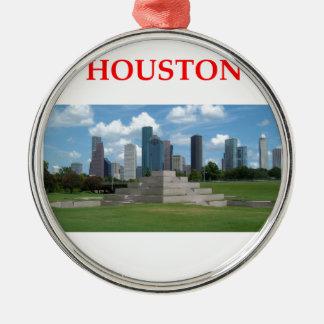 houston metal ornament