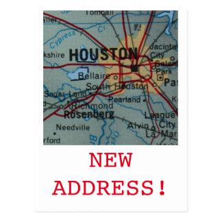 Houston New Address announcement Postcard