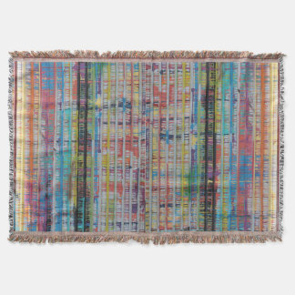 Houston Paint Drippings Throw Blanket