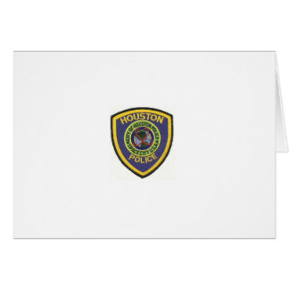 HOUSTON POLICE GREETING CARD