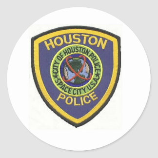 HOUSTON POLICE CLASSIC ROUND STICKER